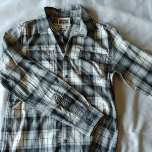 Converse one star button flannel
